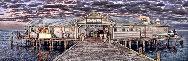 Quot Fish Eat Relax Anna Maria City Pier Quot Limited