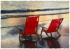 Red Beach Chairs